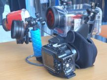 underwater camera at bali scuba dive shop