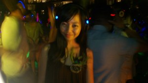 Silent Party @ Woobar, no loud music, except on the headphone