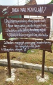 board sign in karimunjawa