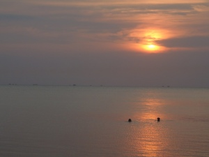 sunset in jepara