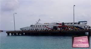 bahari express fast boat and snack box