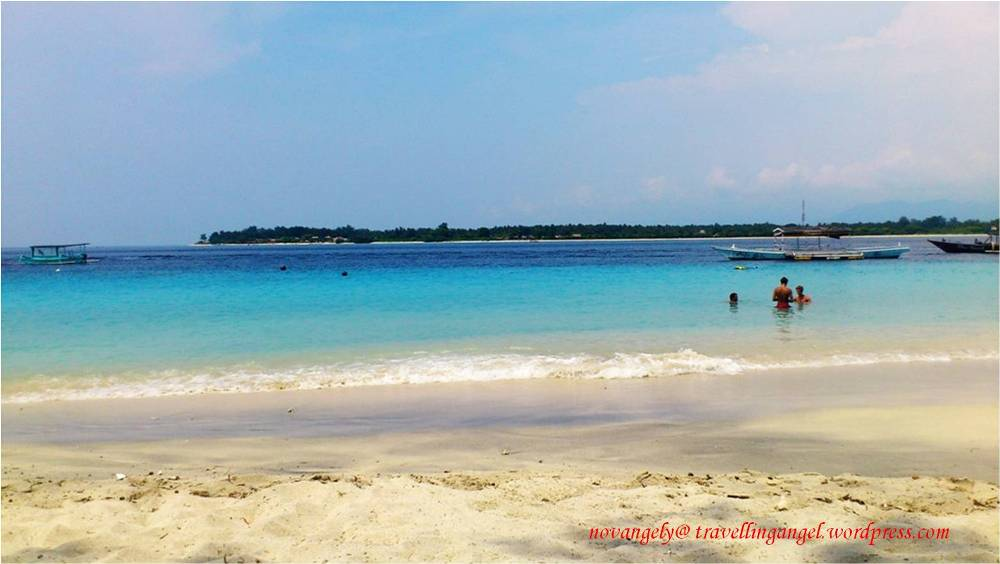 beautiful view from gili trawangan beach