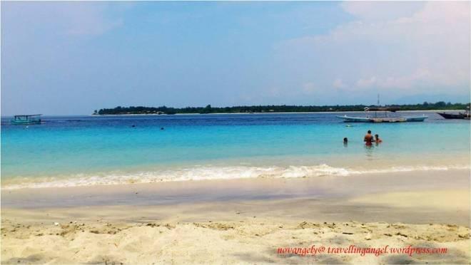 beautiful view from gili trawangan beach