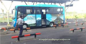 lombok airport bus DAMRI