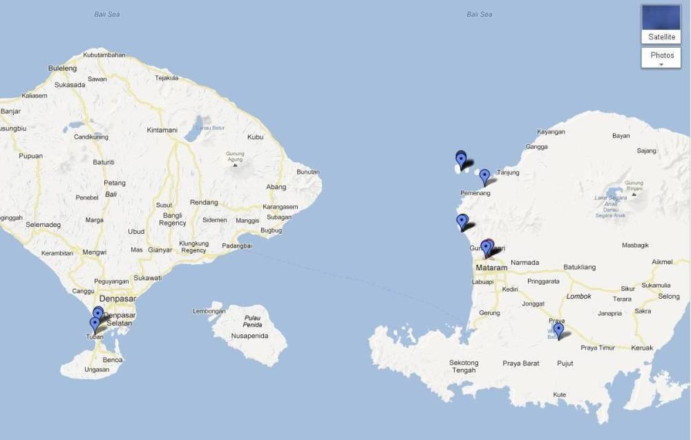 lombok trip map